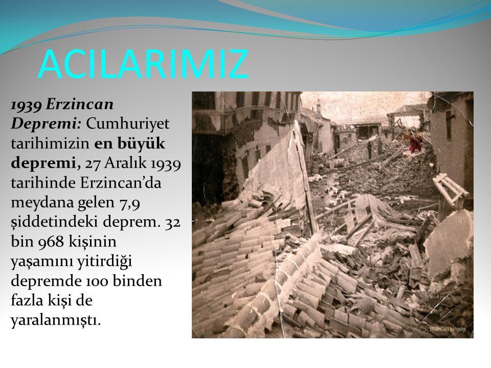 ACILARIMIZ 1939 Erzincan Depremi: Cumhuriyet tarihimizin en büyük depremi, 27 Aralık 1939 tarihinde Erzincan'da meydana gelen 7,9 şiddetindeki deprem.