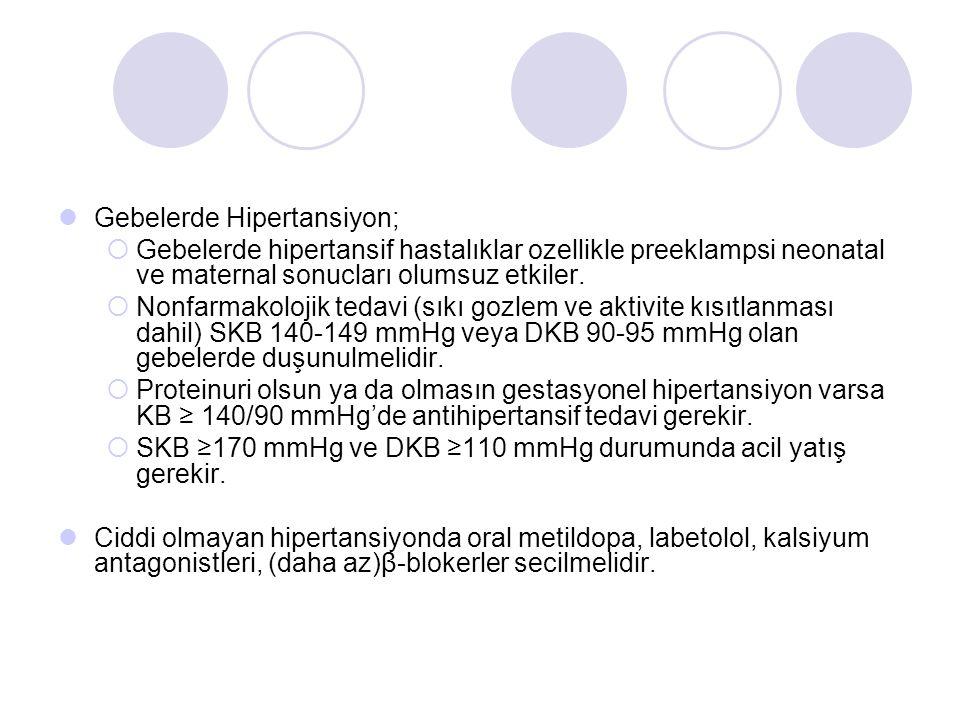 Gebelerde Hipertansiyon;  Gebelerde hipertansif hastalıklar ozellikle preeklampsi neonatal ve maternal sonucları olumsuz etkiler.  Nonfarmakolojik t