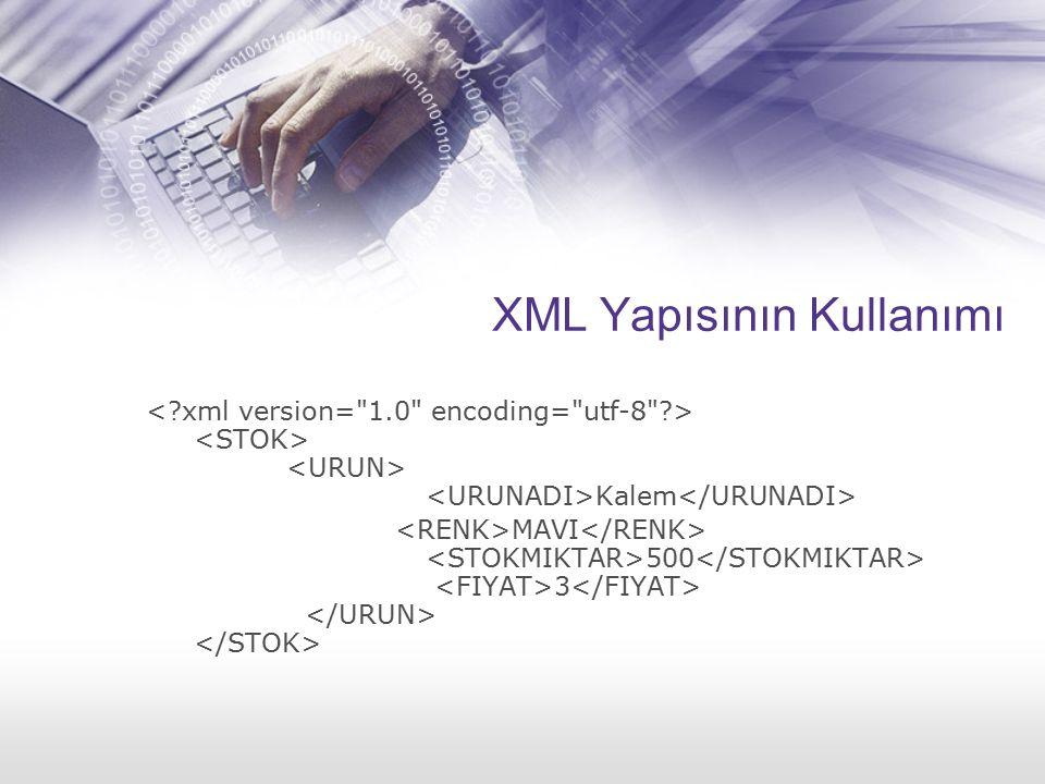 XML Yapısının Kullanımı Kalem MAVI 500 3