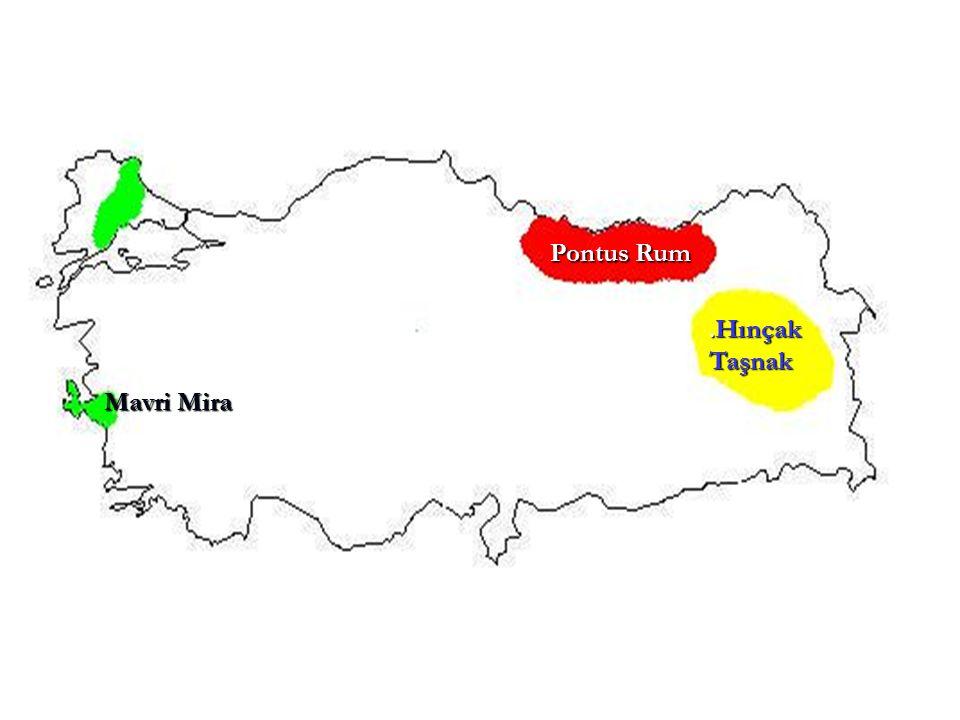 _ Etnik-i Eterya Cemiyeti : İlk kurulduğunda Yunanistan'a bağımsızlığını kazandırmak amacıyla kurulmuştur (1814) I.Dünya Savaşı'nda ise Rumlar'ın yaşadığı tüm toprakları Yunanistan'a katarak eski Bizans'ı canlandırmayı amaçlamışlardır.