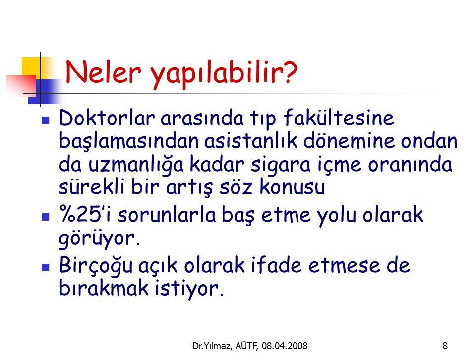 Dr.Yılmaz, AÜTF, 08.04.20088 Neler yapılabilir.