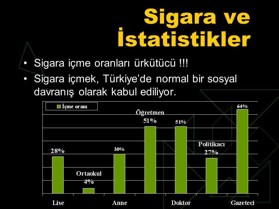 Sigara ve İstatistikler Sigara içme oranları ürkütücü !!.