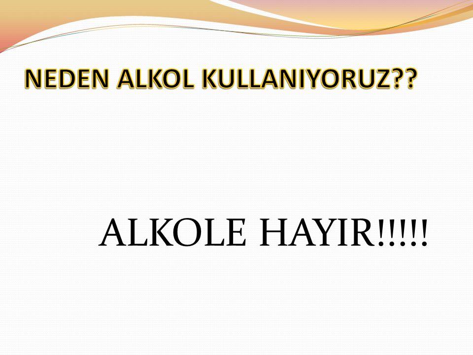 ALKOLE HAYIR!!!!!