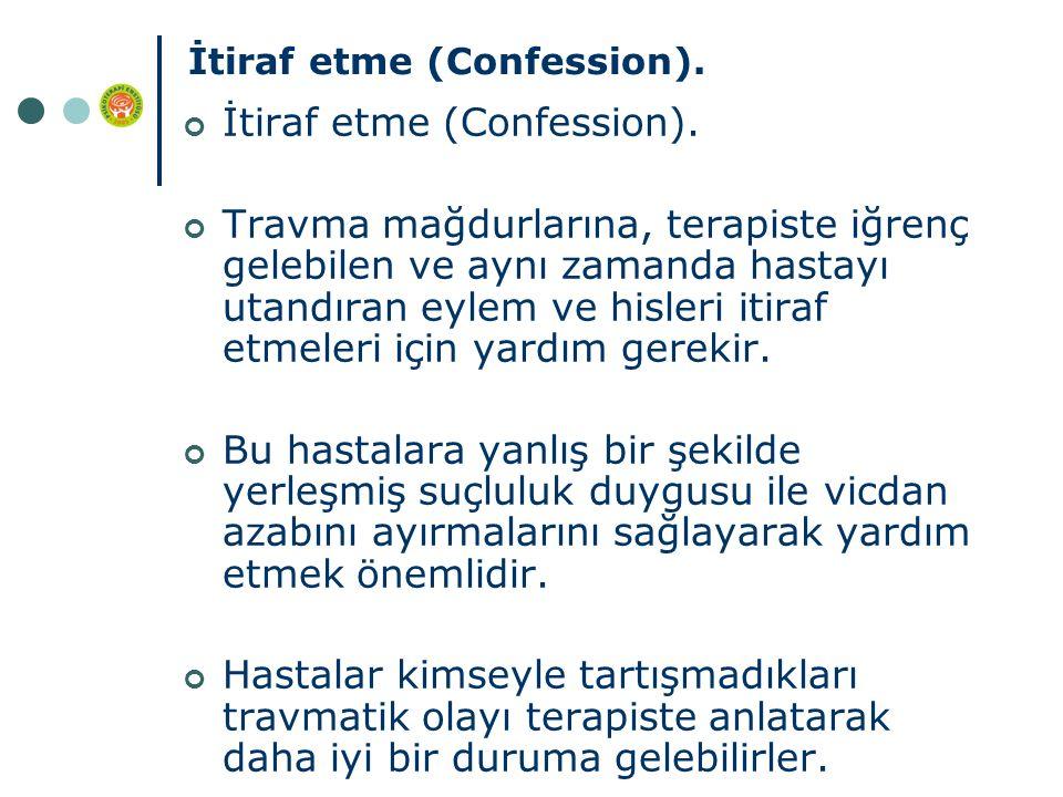 İtiraf etme (Confession).