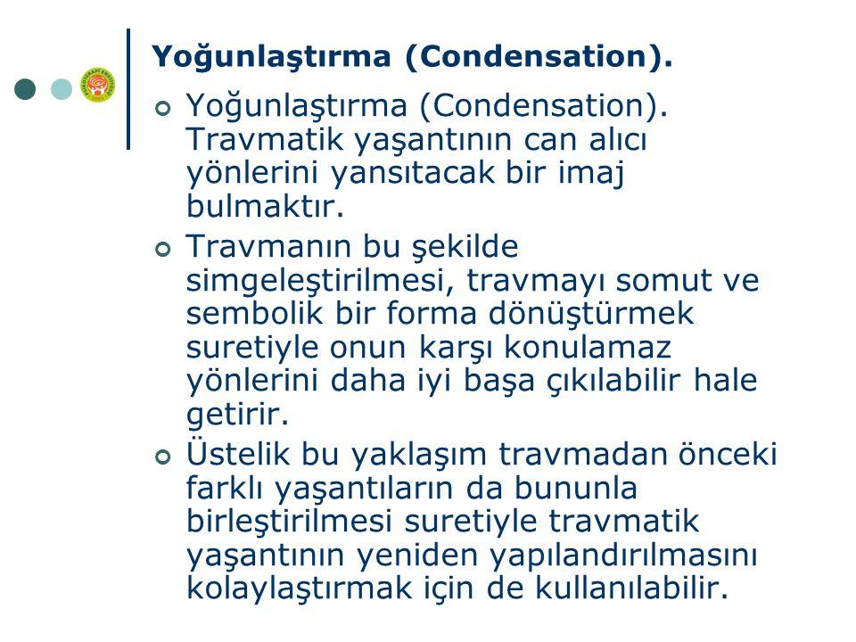 Yoğunlaştırma (Condensation). Yoğunlaştırma (Condensation).