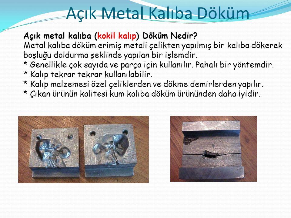 Açık Metal Kalıba Döküm Açık metal kalıba (kokil kalıp) Döküm Nedir.