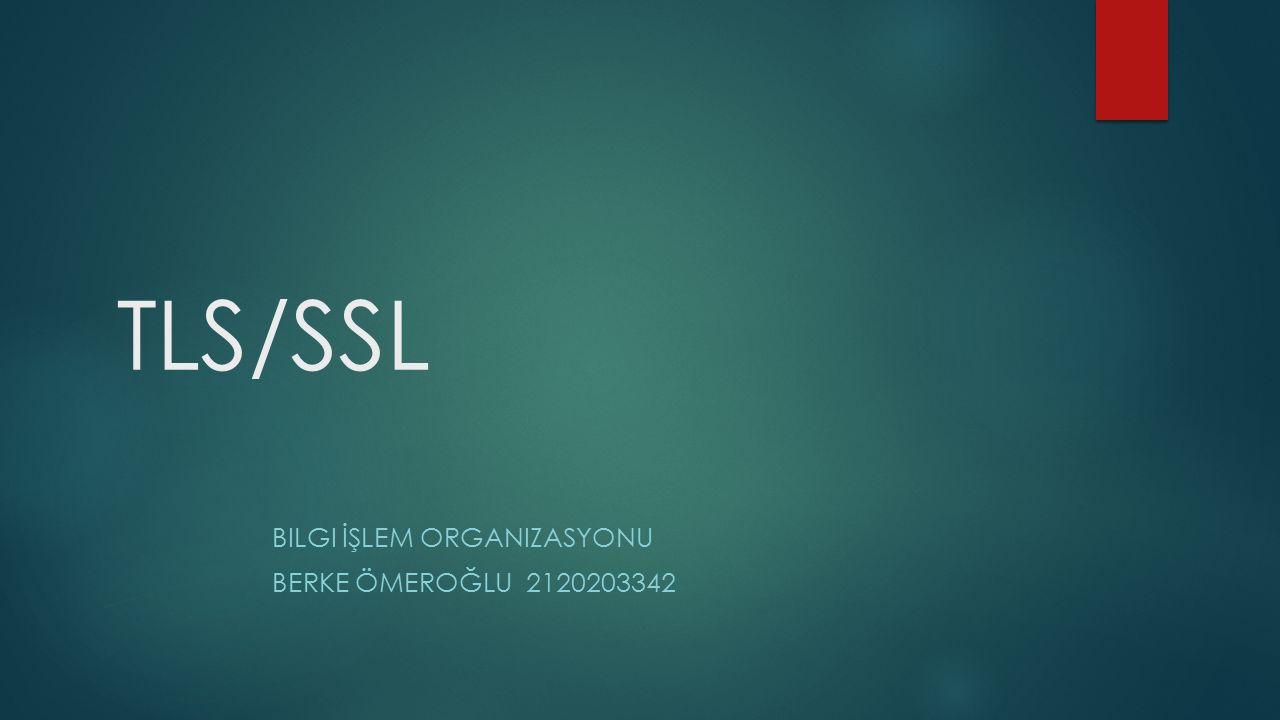 TLS/SSL BILGI İŞLEM ORGANIZASYONU BERKE ÖMEROĞLU 2120203342