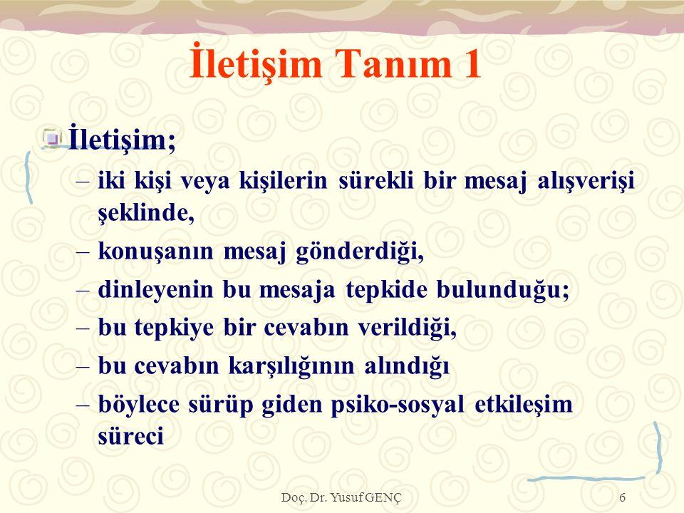 İLETİŞİM ÇEŞİTLERİ 1.