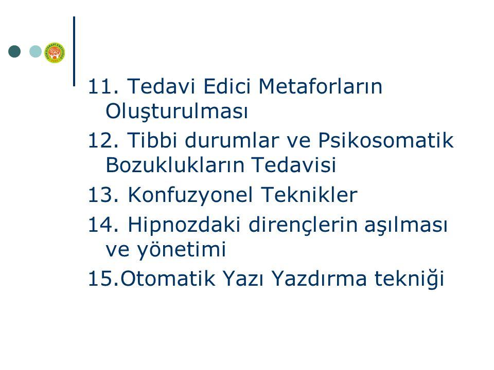 11. Tedavi Edici Metaforların Oluşturulması 12.