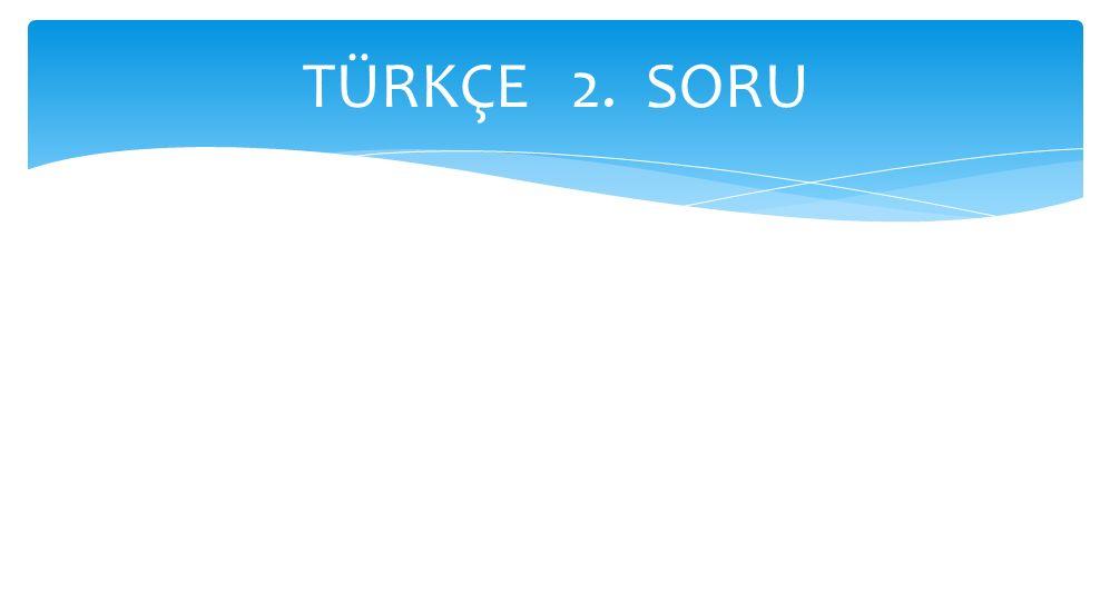 TÜRKÇE 2. SORU