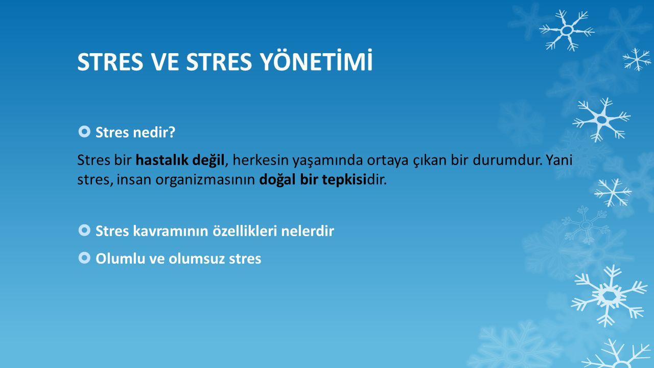  Stresin Belirtileri Nelerdir.