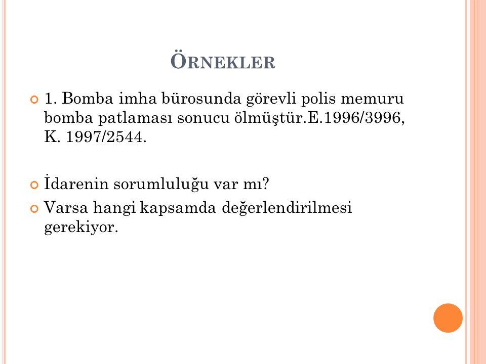 Ö RNEKLER 1.
