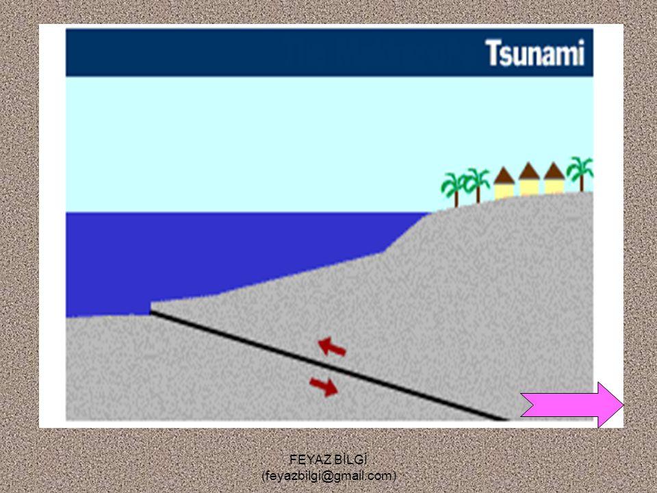 FEYAZ BİLGİ (feyazbilgi@gmail.com) Dalgalar ve Akıntılar Dalgaları, rüzgarlar oluşturur. Deniz altında ki depremler ve volkanik olaylar da dalga oluşt