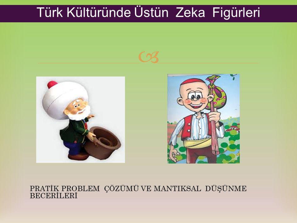  PRATİK PROBLEM ÇÖZÜMÜ VE MANTIKSAL DÜŞÜNME BECERİLERİ Türk Kültüründe Üstün Zeka Figürleri