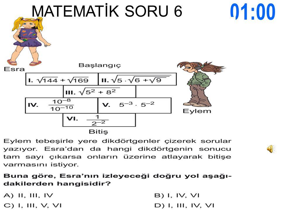 MATEMATİK SORU 6