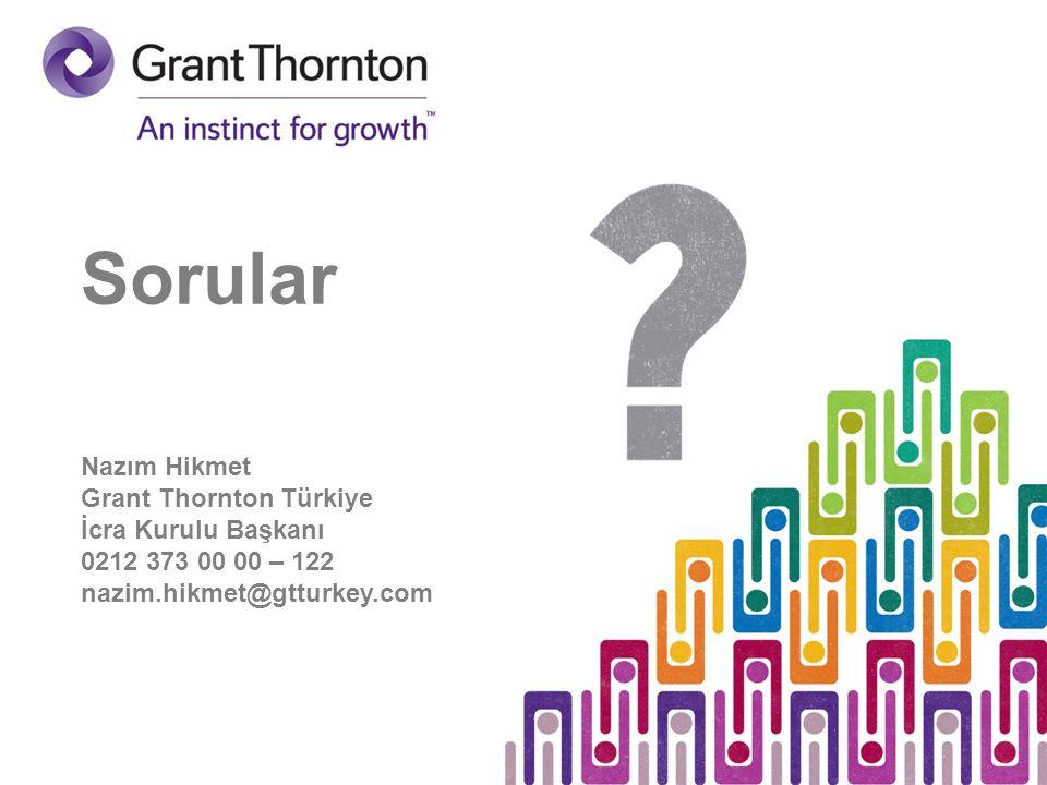 Sorular Nazım Hikmet Grant Thornton Türkiye İcra Kurulu Başkanı 0212 373 00 00 – 122 nazim.hikmet@gtturkey.com