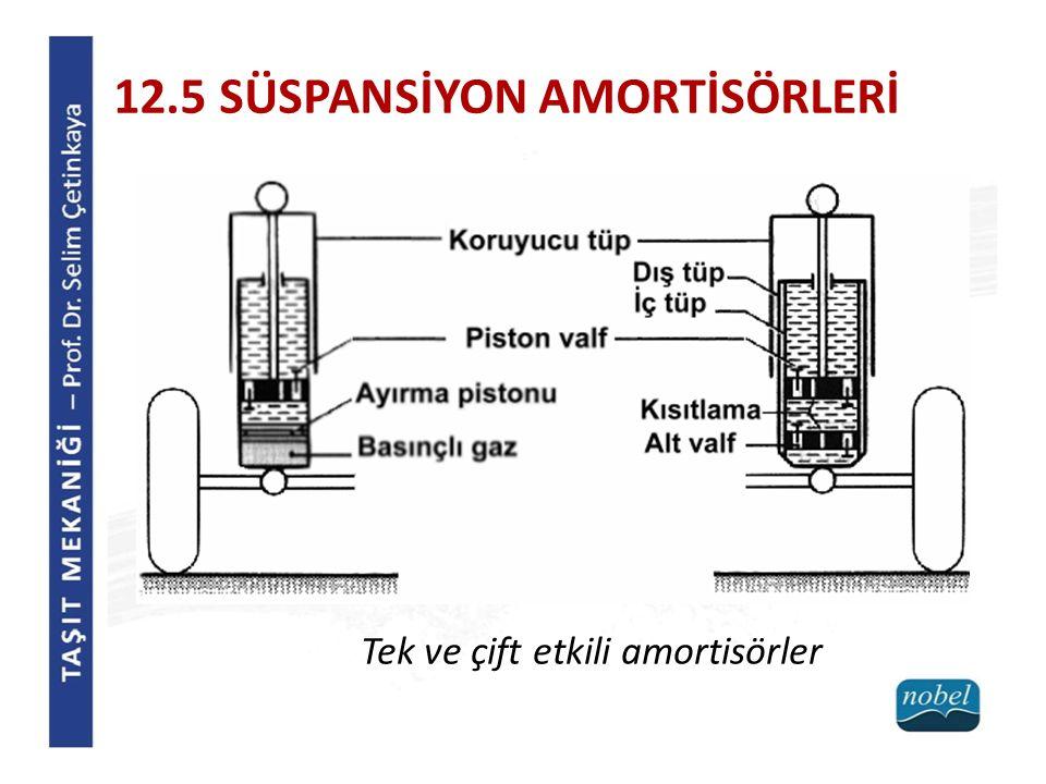 12.5 SÜSPANSİYON AMORTİSÖRLERİ Tek ve çift etkili amortisörler