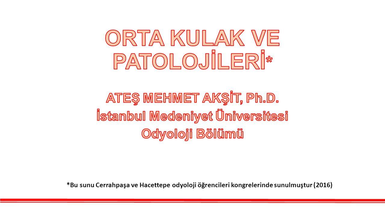 *Bu sunu Cerrahpaşa ve Hacettepe odyoloji öğrencileri kongrelerinde sunulmuştur (2016)