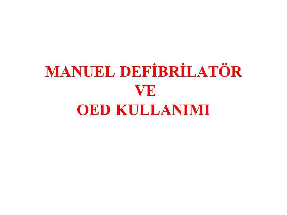Defibrilasyon Aşamaları I.Defibrilatörü çalışır konuma getir.