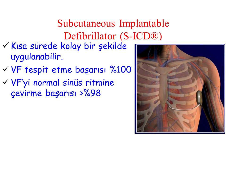Subcutaneous Implantable Defibrillator (S-ICD®) Kısa sürede kolay bir şekilde uygulanabilir.
