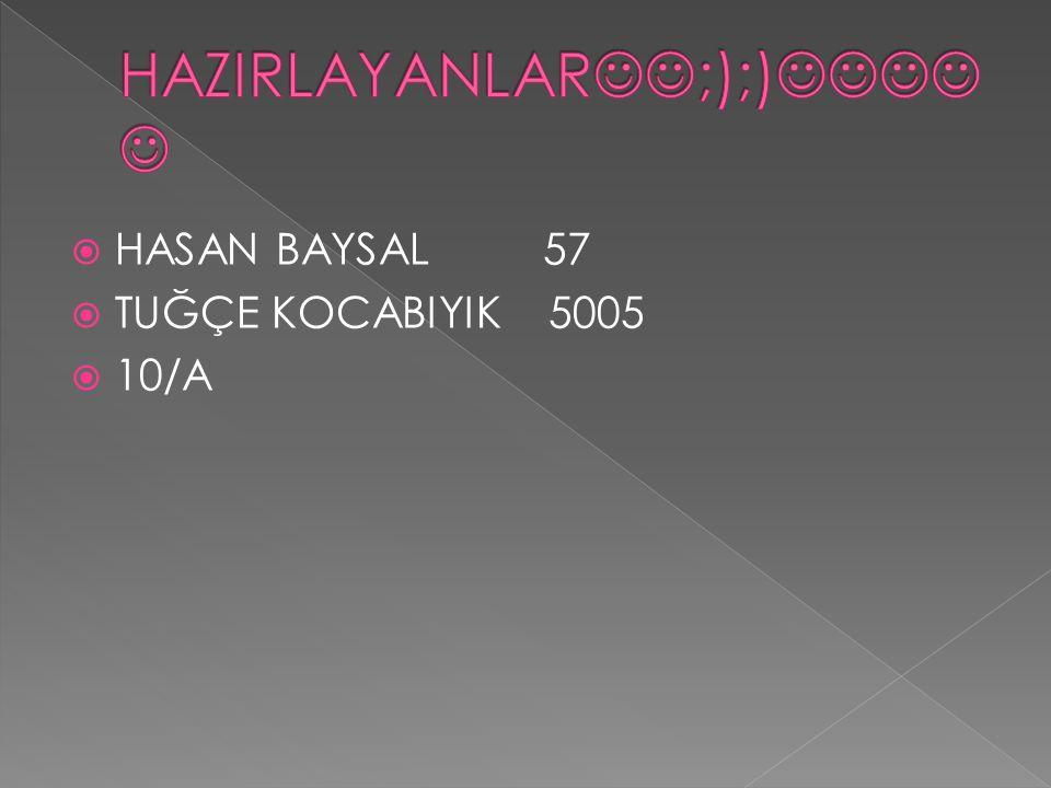  HASAN BAYSAL 57  TUĞÇE KOCABIYIK 5005  10/A