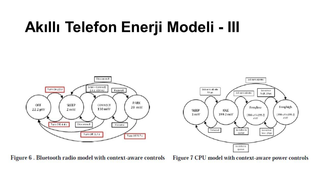 Akıllı Telefon Enerji Modeli - III