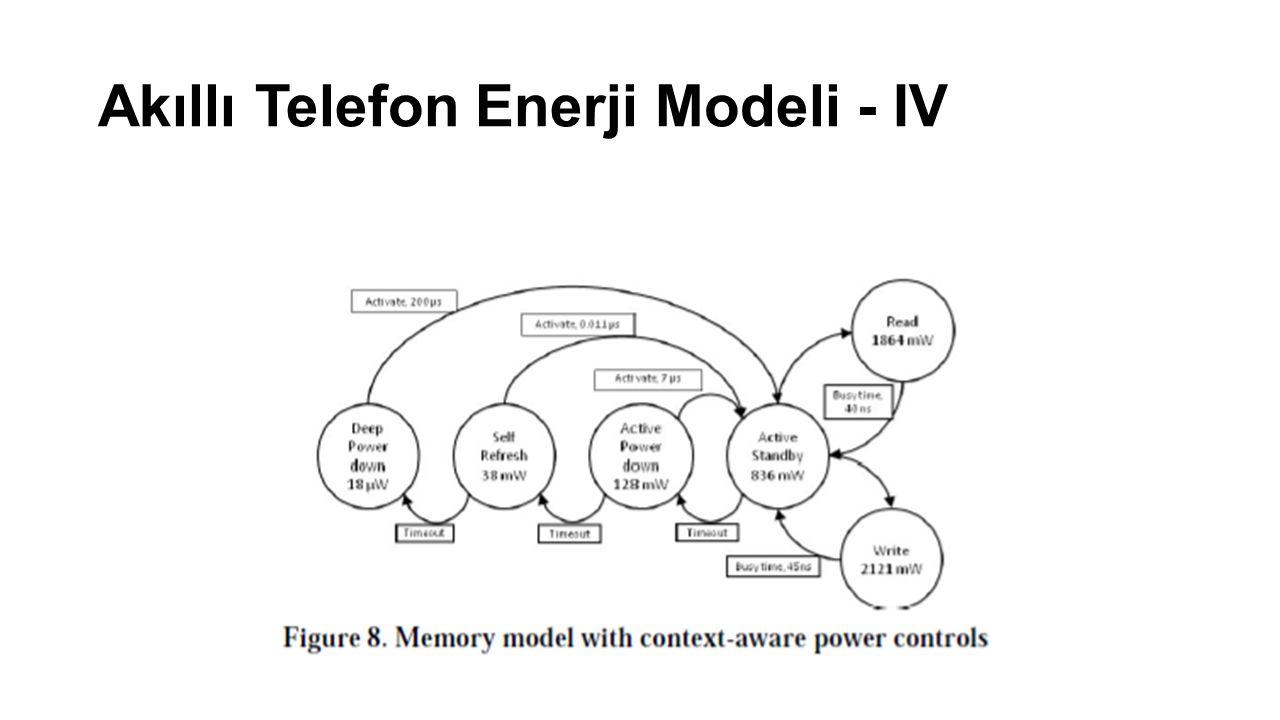 Akıllı Telefon Enerji Modeli - IV
