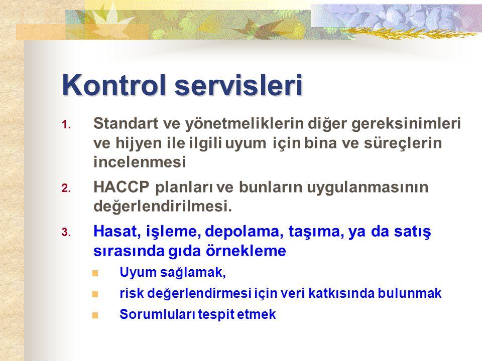 Kontrol servisleri 1.