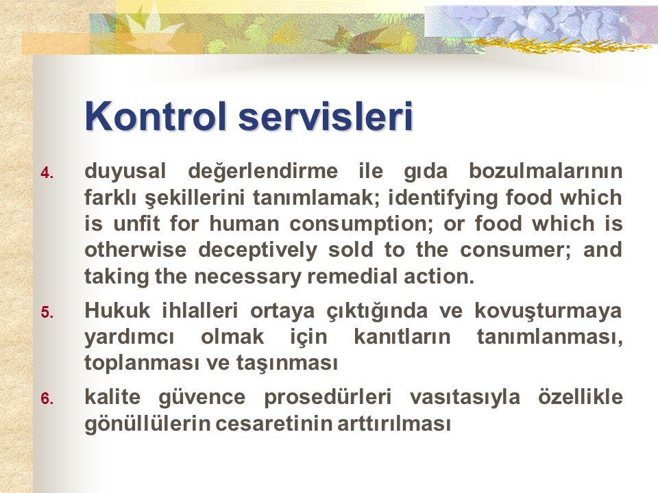 Kontrol servisleri 4.