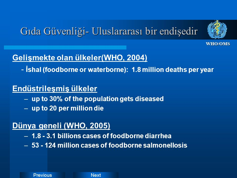 Gıda güvenliği Kronik veya akut olsun tüm bu tehlikelere neden olan tüketici sağlığına zararlı üretilen gıdaları ifade eder