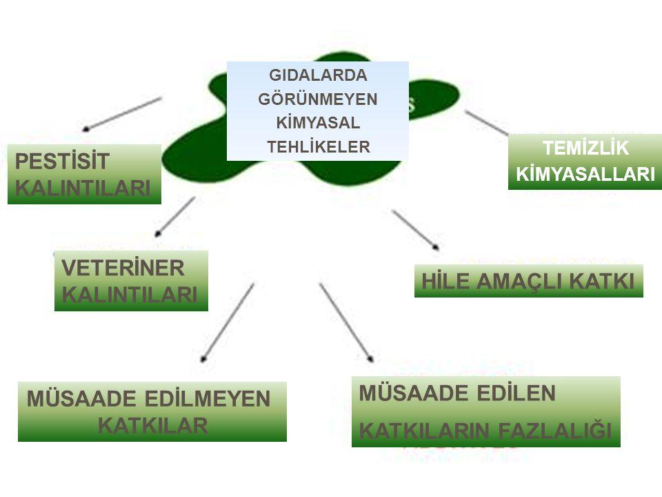 Ulusal bir gıda kontrol sisteminin bileşenleri 1.