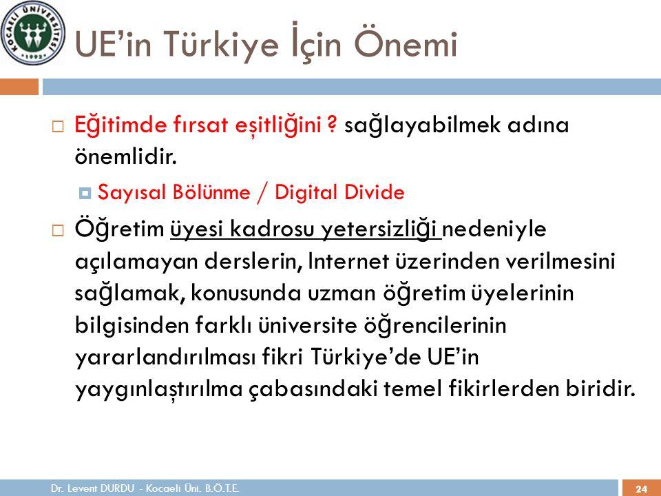24 UE'in Türkiye İ çin Önemi  E ğ itimde fırsat eşitli ğ ini .