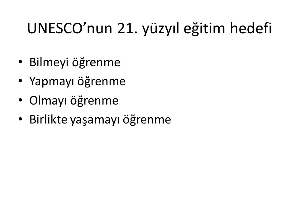UNESCO'nun 21.