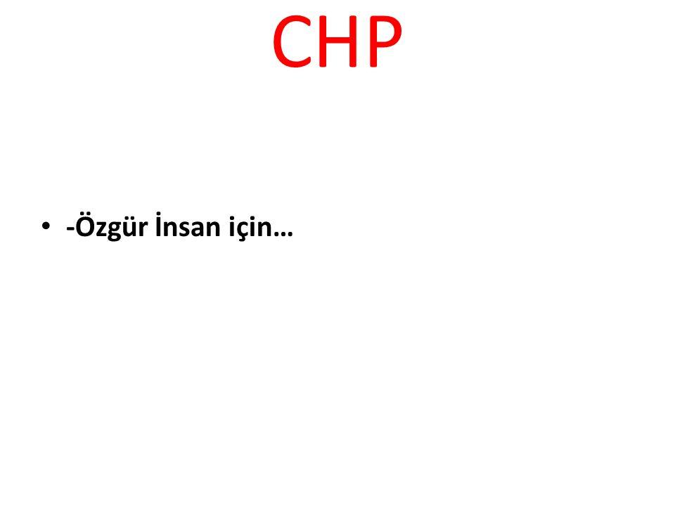 CHP -Özgür İnsan için…