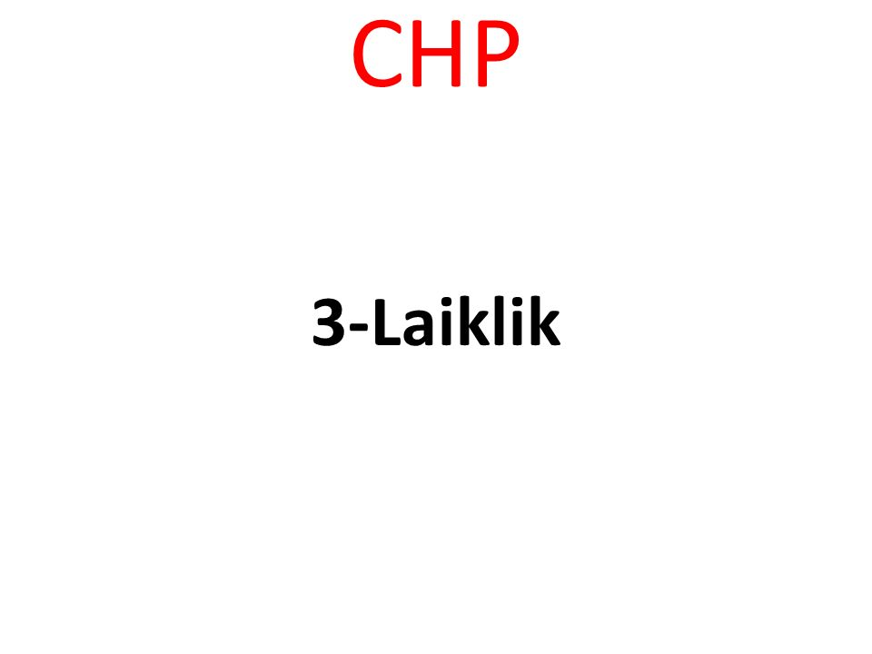 CHP -Mutlu toplum, mutlu yurttaş için…