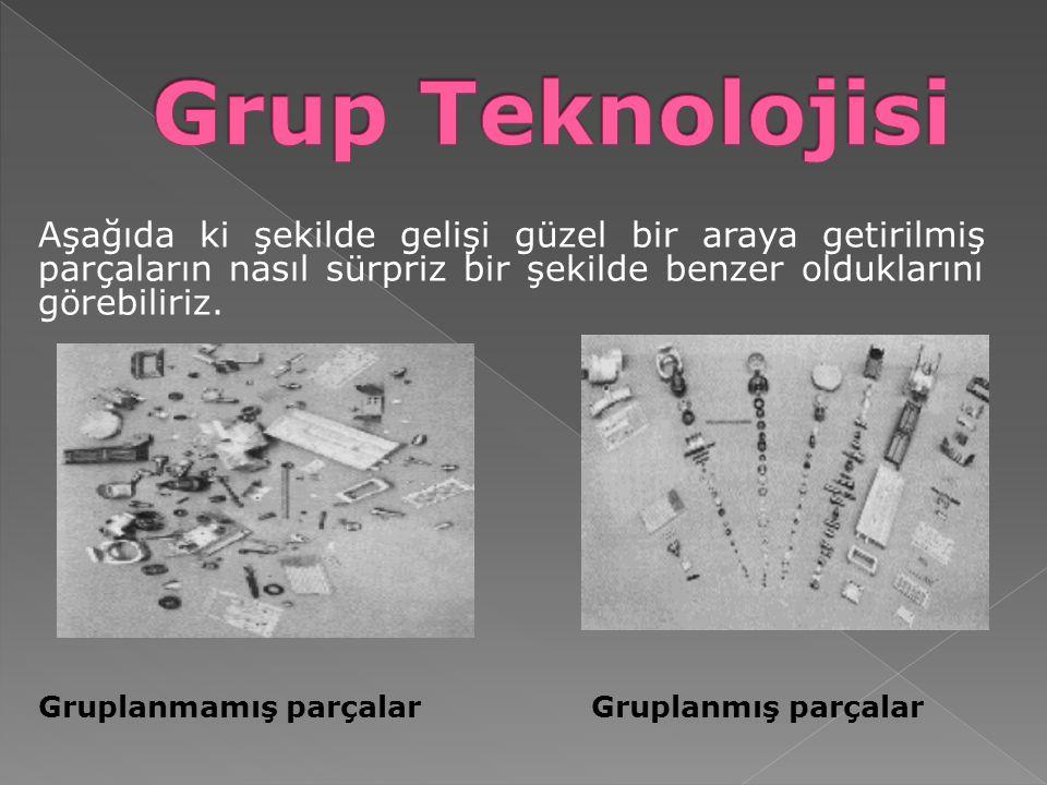 GT uygulanırken benzer parçalar parça aileleri şeklinde bir araya getirilir.