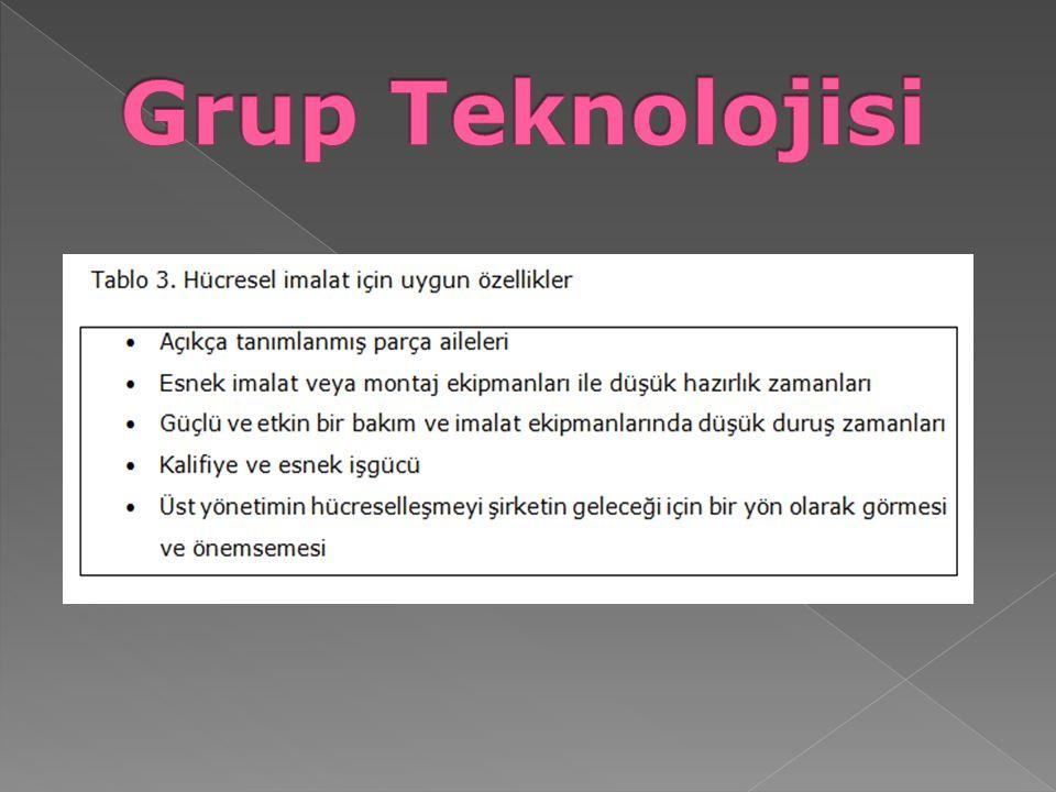 TİPİK BİR HÜCRENİN ÖZELLİKLERİ Tipik bir hücrede aranan özellikler Tablo 4'de sunulmuştur.
