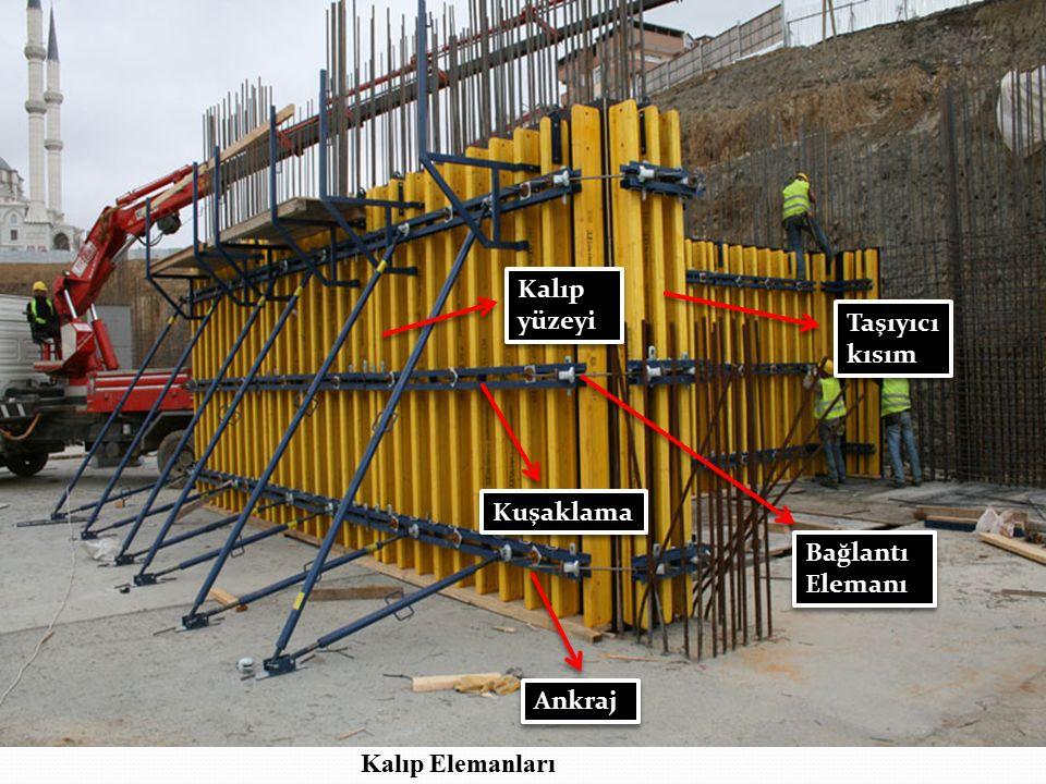 1- Kalıp Yüzeyi : Kalıp yüzeyi betona istenilen şekli veren onunla direkt bağlantıda olan kısımdır.