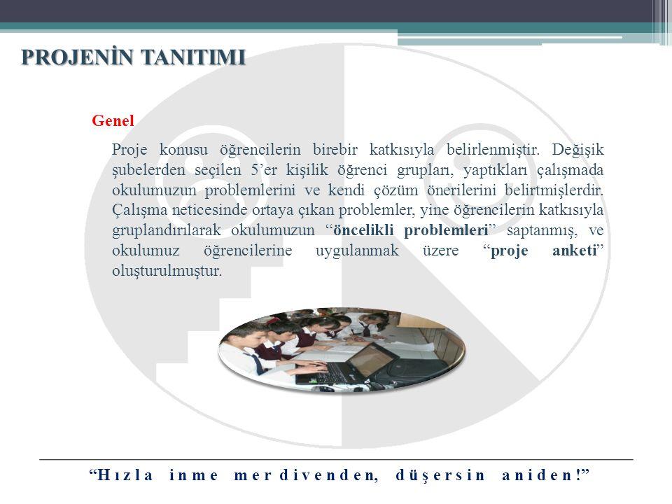 Genel Proje konusu öğrencilerin birebir katkısıyla belirlenmiştir.