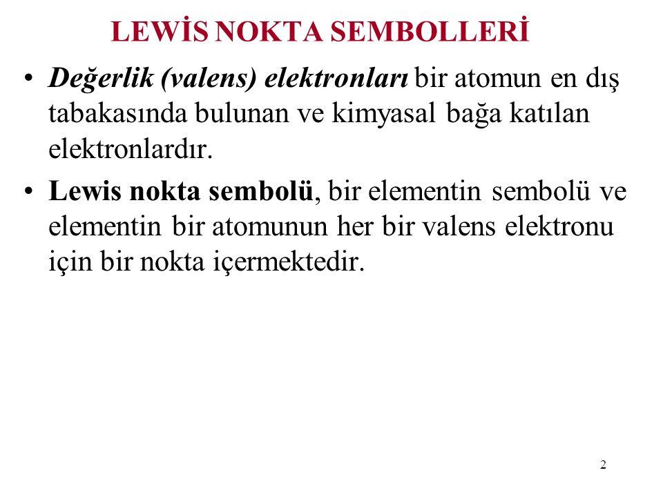 23 Rezonas yapısı tek bir Lewis Yapısıyla gösterilemeyen tek bir molekülün iki veya daha fazla sayıdaki Lewis Yapısıdır.
