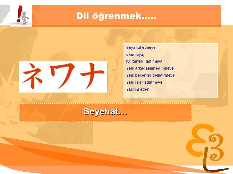learning to learn network for low skilled senior learners Dil öğrenmek….. Seyahat etmeye, okumaya, Kültürleri tanımaya Yeni arkadaşlar edinmeye Yeni b