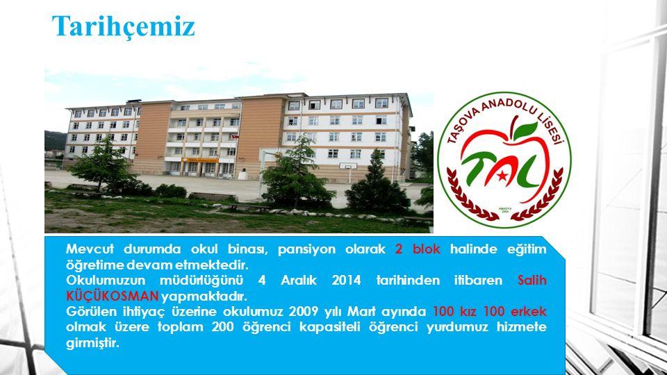 Tarihçemiz Mevcut durumda okul binası, pansiyon olarak 2 blok halinde eğitim öğretime devam etmektedir. Okulumuzun müdürlüğünü 4 Aralık 2014 tarihinde