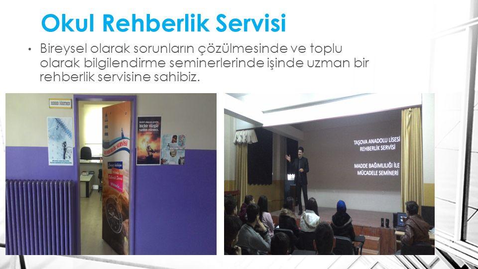 Okul Rehberlik Servisi Bireysel olarak sorunların çözülmesinde ve toplu olarak bilgilendirme seminerlerinde işinde uzman bir rehberlik servisine sahib