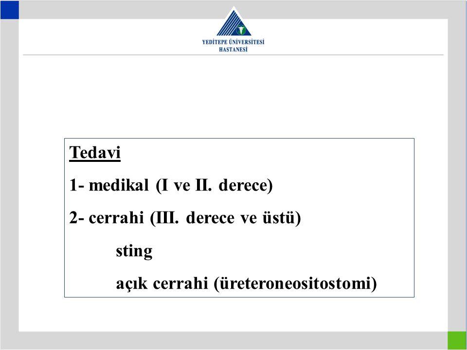 Tedavi 1- medikal (I ve II.derece) 2- cerrahi (III.