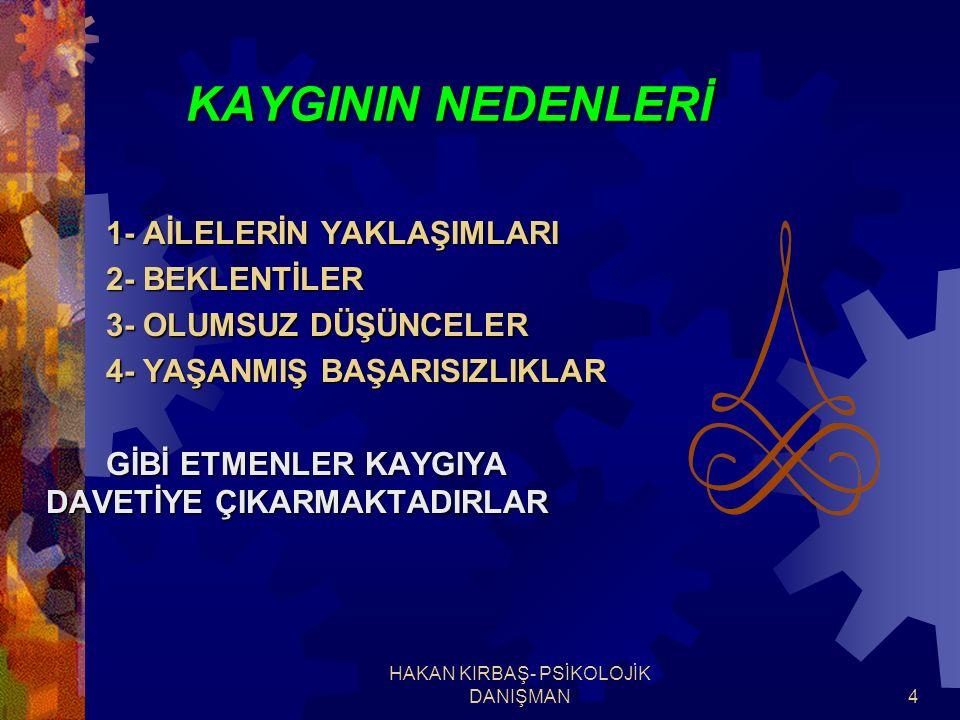 HAKAN KIRBAŞ- PSİKOLOJİK DANIŞMAN15 C- KENDİNİZE GÜVENİN.