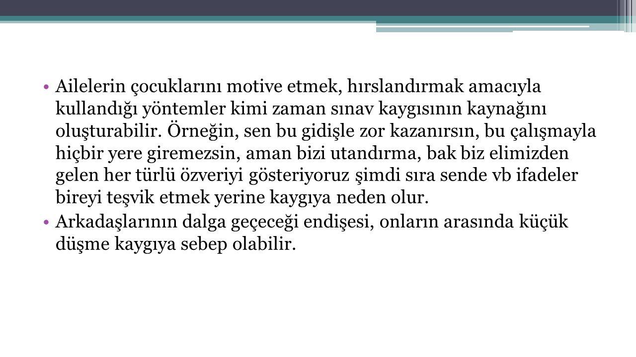 KAYGININ NEDENİ.