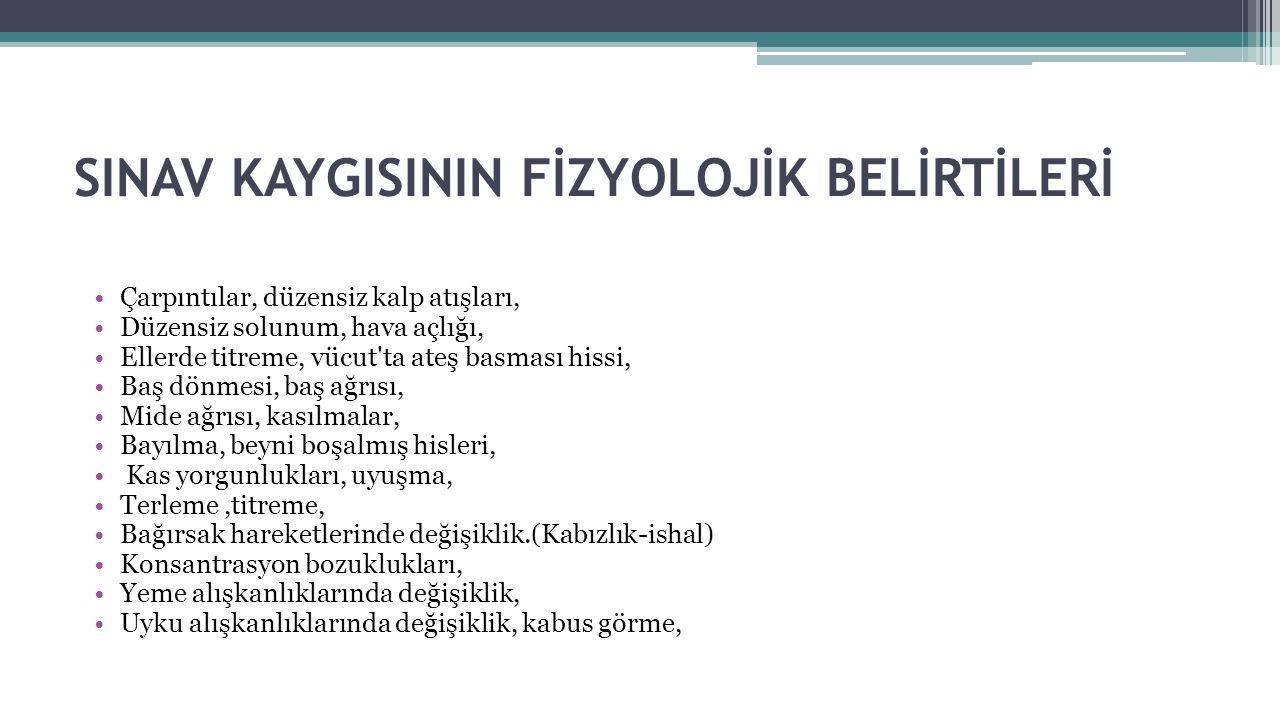 Kaygılı Birey Sınavda Neler Yaşar. Sınav sırasında bildiklerini unuttuğu duygusuna kapılır.