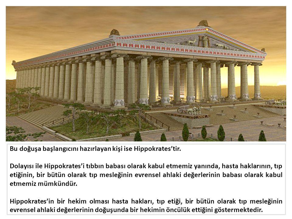 Bu doğuşa başlangıcını hazırlayan kişi ise Hippokrates'tir.