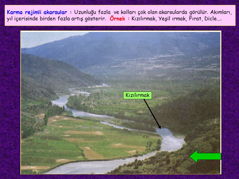 FEYAZ BİLGİ (feyazbilgi@gmail.com) Göl suları ile beslenen akarsular : Göldeki fazla suyu boşaltan akarsulardır.