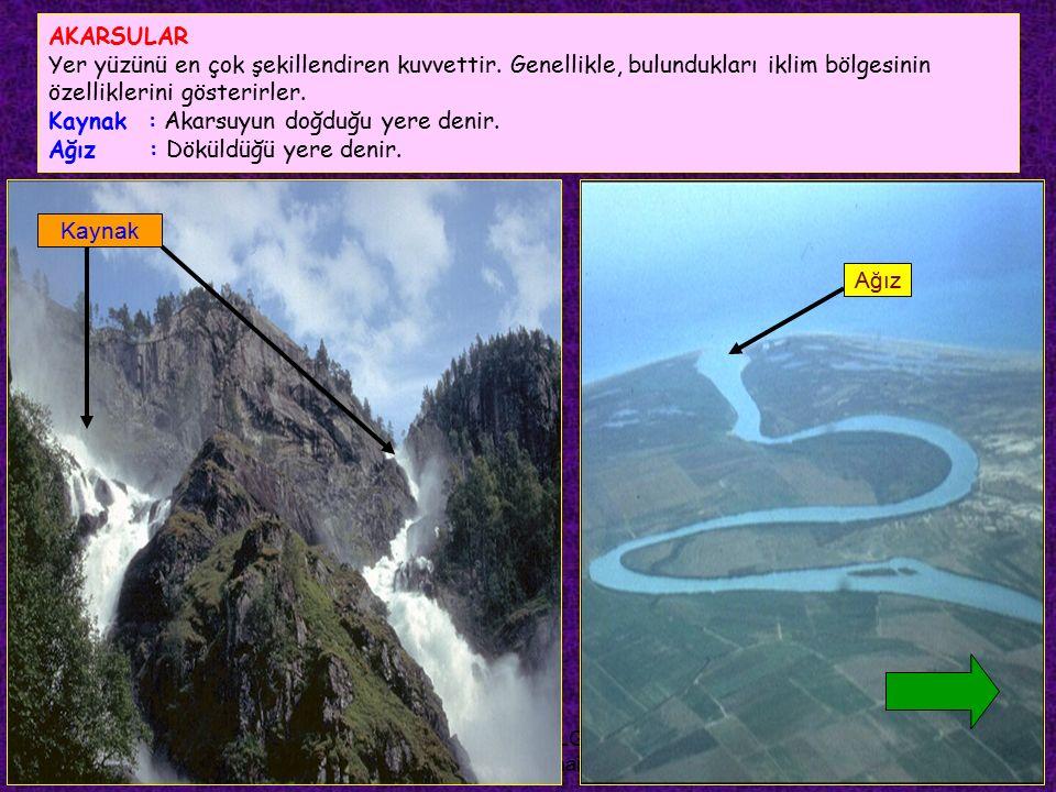 FEYAZ BİLGİ (feyazbilgi@gmail.com) Rejimi düzenli akarsu : Akımı ve su seviyesi yıl içerisinde fazla değişmeyen akarsulardır.